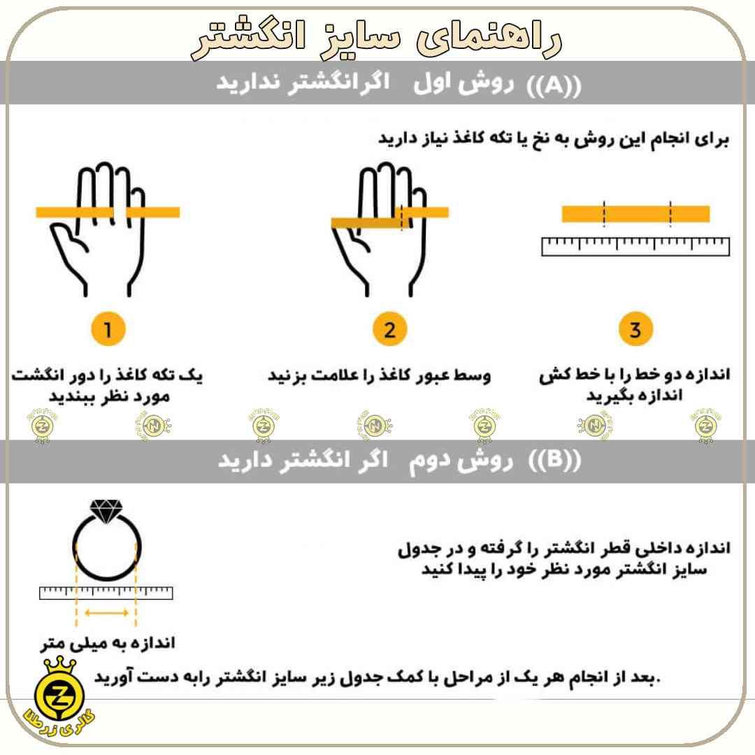انگشتر نقره مردانه رکاب طرح دار