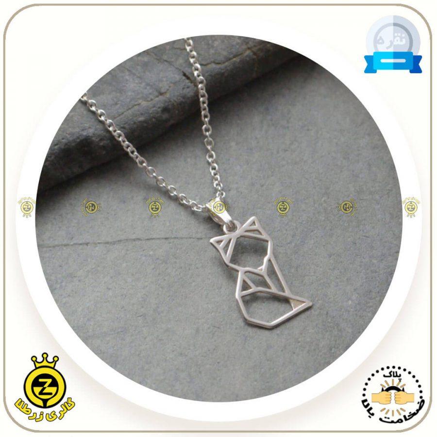 مدال گردنی روباه اوریگامی