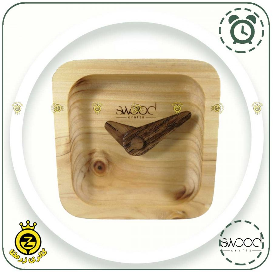 ساعت چوبی از روبرو