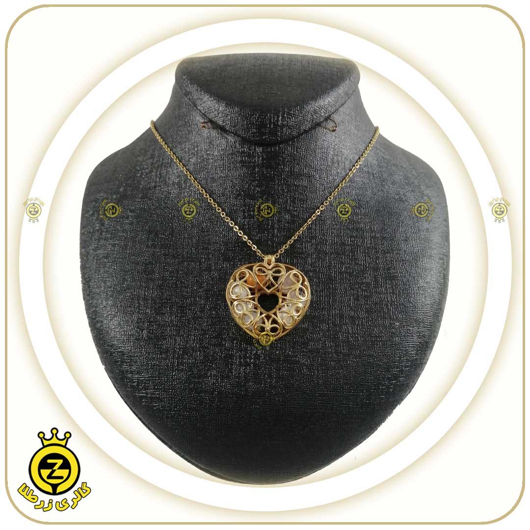 گردنبند لاکت قفسی طرح قلب:خرداد ماه