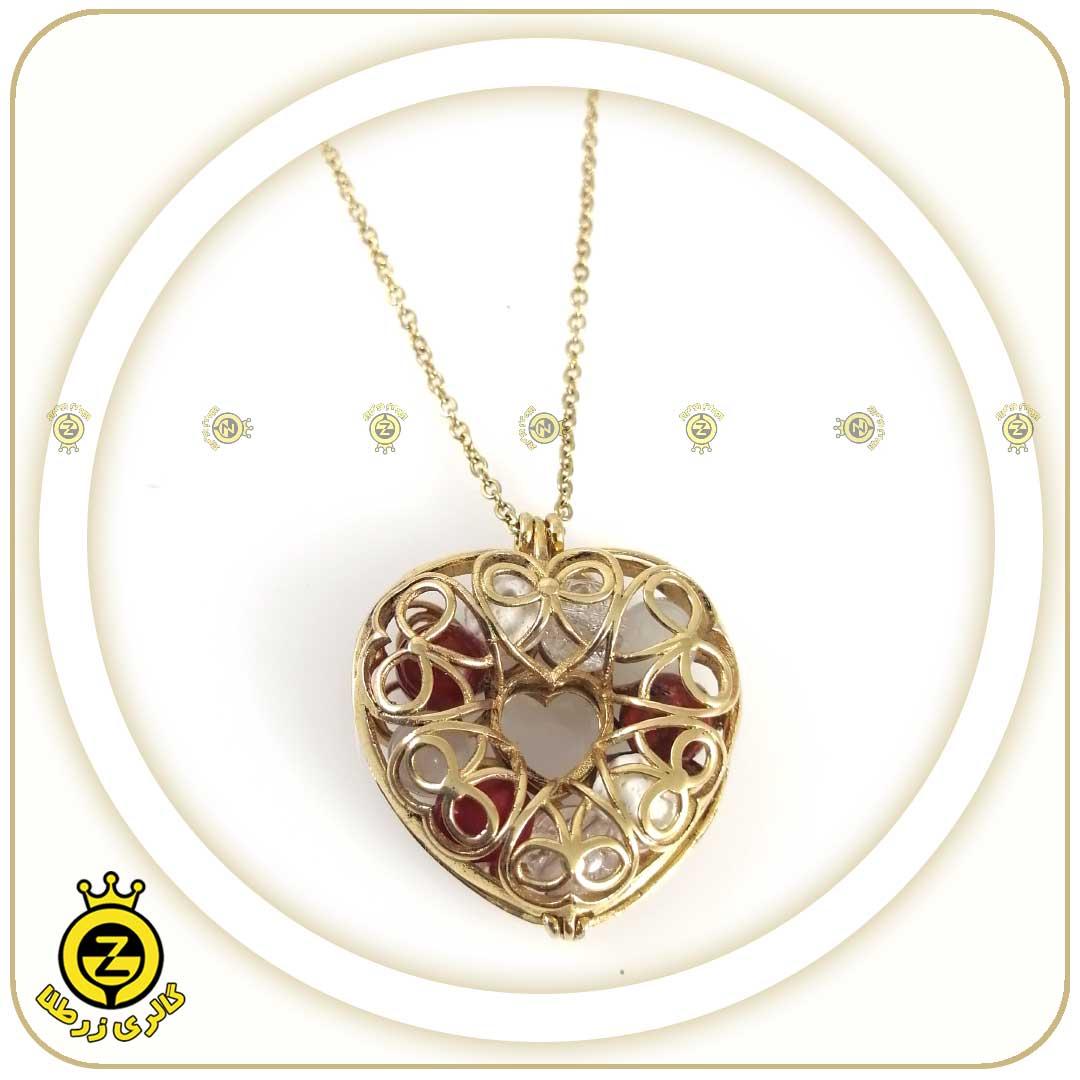 گردنبند لاکت قفسی طرح قلب:فروردین ماه