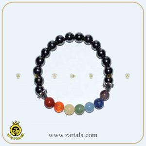 دستبند ترکیبی سنگ های حدید و چاکرا