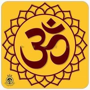 نماد اوم که یکی از نماد های رایج در یوگاست.