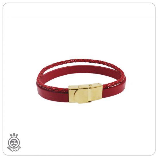 دستبند قفل ساعتی دو تیکه قرمز