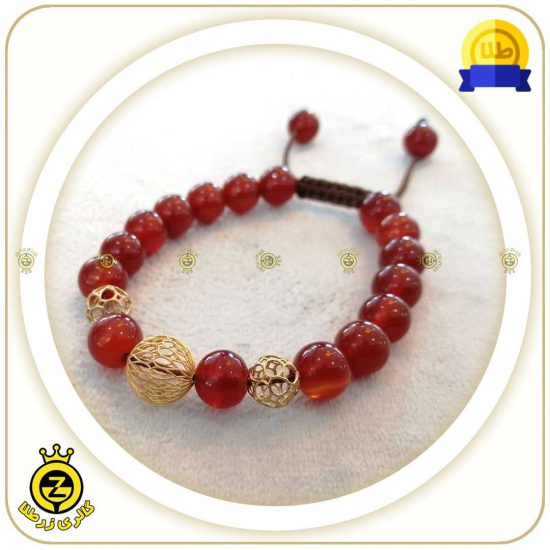 دستبند با سنگ عقیق اصل