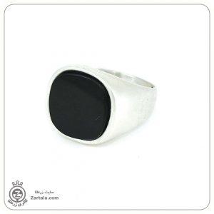 انگشتر سیگنت نقره با سنگ اونیکس